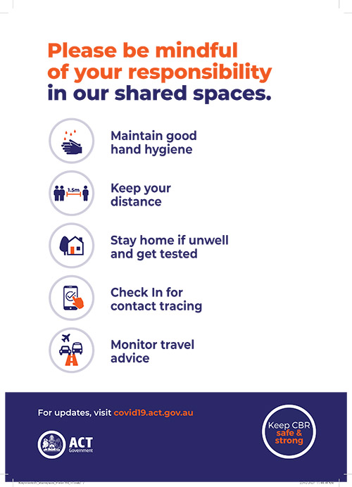 Please be mindful of your responsibility in our shared spaces