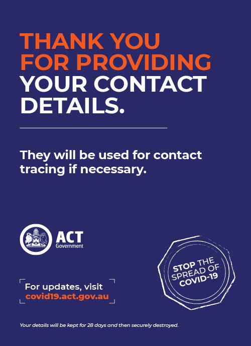 Thanks for your contact details Poster